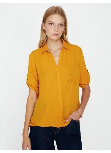 Koton Gömlek Bluz Sarı